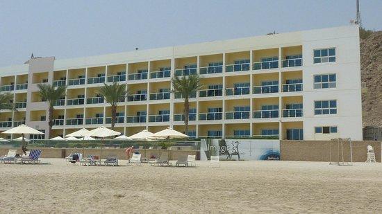 Radisson Blu Resort Fujairah: Das Hotel ist sage und schreibe 500m lang;-)