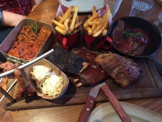 Hickory's Smokehouse: £35 sharing platter