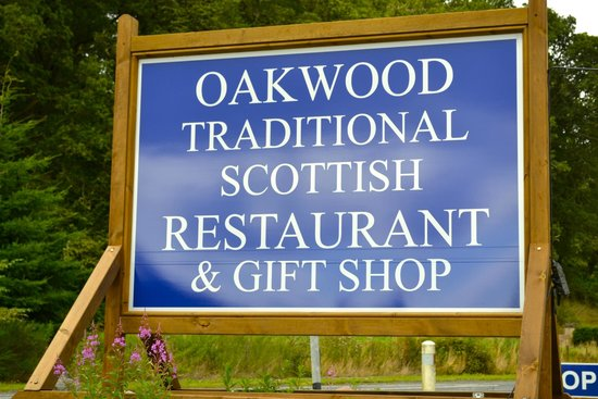 Oakwood Restaurant: Main sign