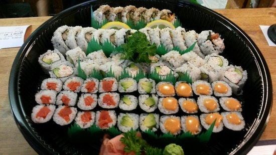 Toudai Sushi: This is a Party Tray. For take out only.