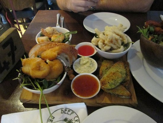 Deep Creek Brews & Eats: seafood sharing platter ...recommended!