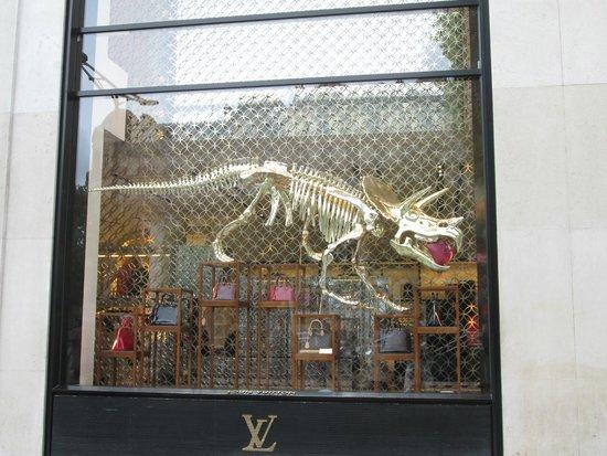 Champs-Elysees: Louis Vitton Flagship Store Window, Avenue des Champs Elysees, Paris, France
