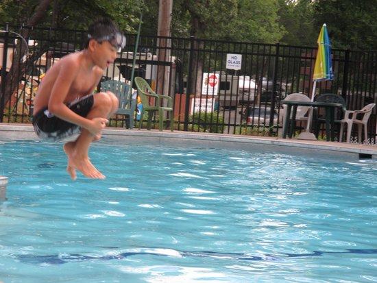 Yogi Bear's Jellystone Park: Airborne... at the pool.
