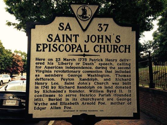 St. John's Episcopal Church : Sign Post