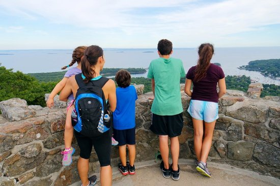 Mount Battie: Getting to the top. Nice memory for all.