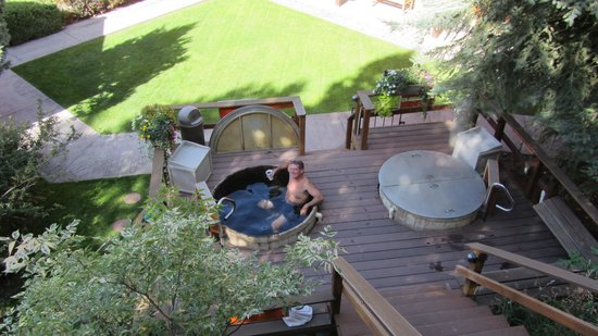 Box Canyon Lodge & Hot Springs: soaking in the lower tub