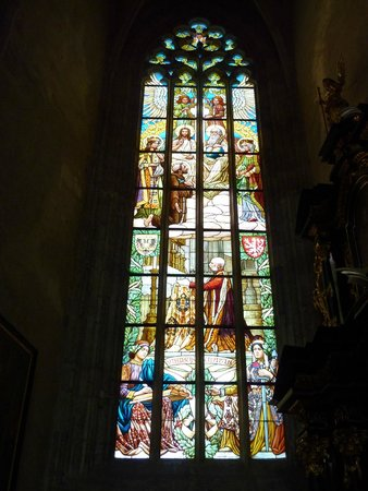 Cathedral of St. Barbara: Stained glass window