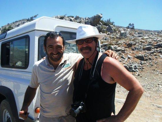Safari Club Crete: Our driver Vangelis and Mike