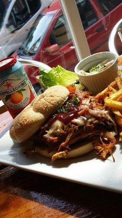 The Secret Garden Cafe: The Pulled pork deluxe!