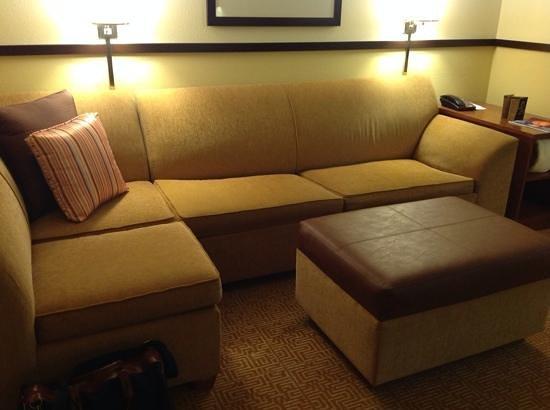 Hyatt Place Greenville/Haywood : sofa in living area