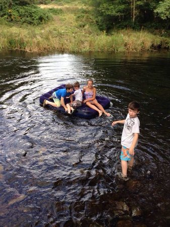 Riverside Camping: River rafting