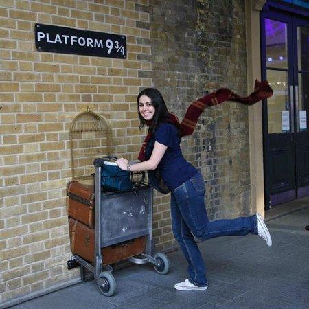 King's Cross Station: O cachecol foi emprestado para foto.