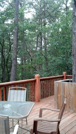 Cabin Fever Resort: Beautiful back deck of Cabin #3 :)