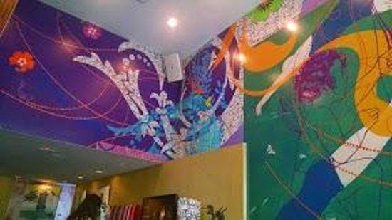 "Hotel Triton: Art above the lobby ""living room"""