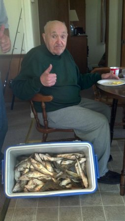 Island Queen Inland Charters, LLC: My dad gave us the thumbs up to the King Fish catch!