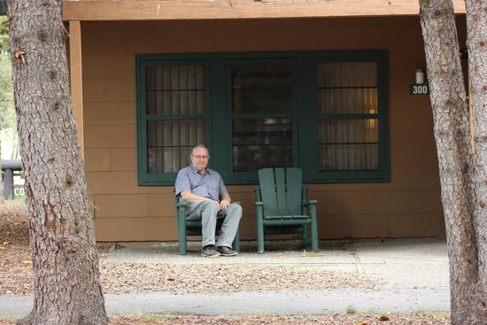 Jackson Lake Lodge : Outside a cottage with two Queen Beds (# 300)
