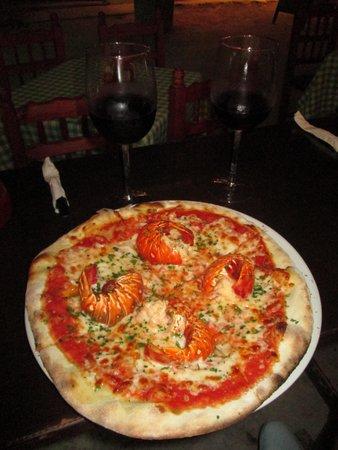 Cariocas Pizzas Holbox: Resto Cariocas PIzza de Langosta