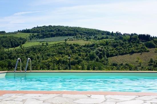 Agriturismo Podere Felceto: vom Pool aus Ausblick