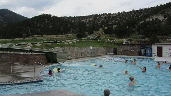 Mount Princeton Hot Springs Resort: water slide area for the kids (and fun grownups too!)