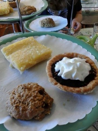 The Tailored Tea: Trio of desserts