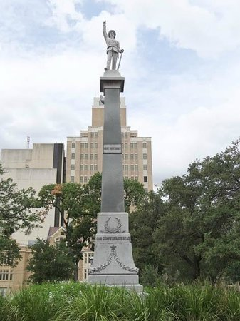 monument - Picture of Travis Park United Methodist Church ...