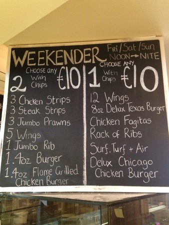 The Coffee Club: Weekender BBQ   All Combinations only €10