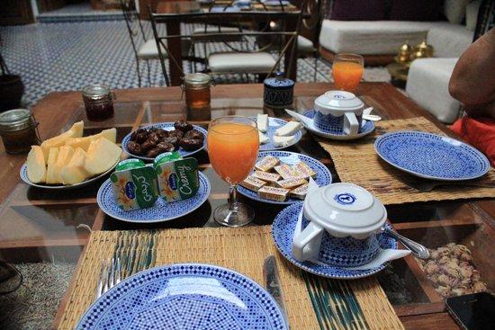 Riad La Cle de Fes: Breakfast