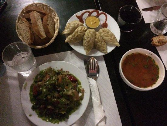 Veggie Garden : Thali and Momo side dish
