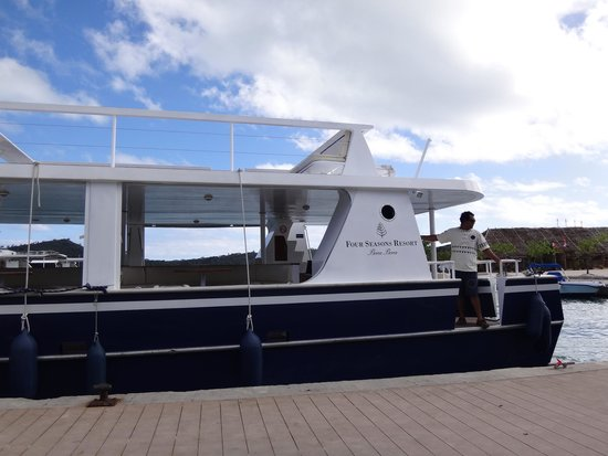 Four Seasons Resort Bora Bora: boat from FS to main island