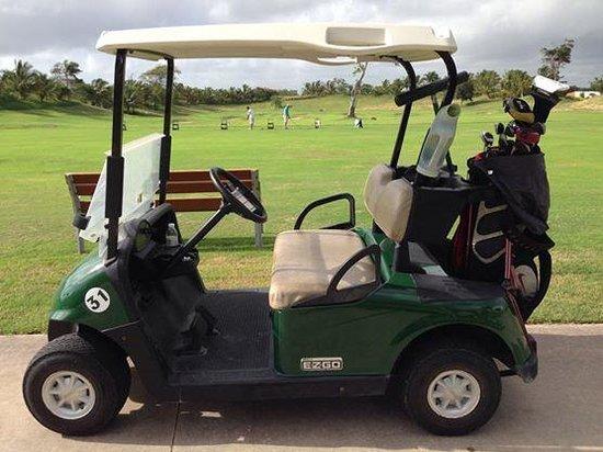 Iberostate Bavaro Golf & Club: Golf cart all ready to go