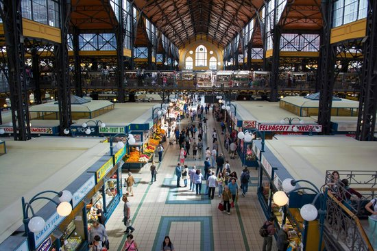 Central Market Hall: From the second level.