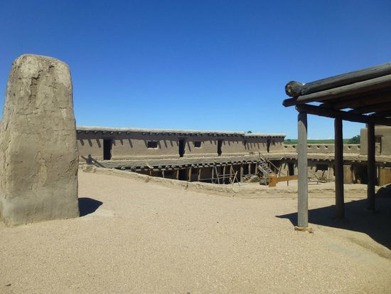 Bent's Old Fort National Historic Site: View from above overlooking the plaza