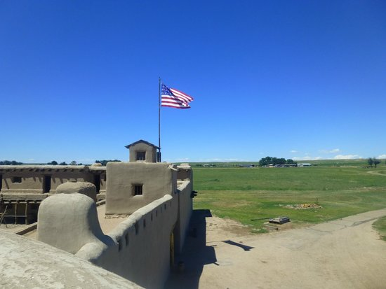 Bent's Old Fort National Historic Site: Picture from the top of one of the towers