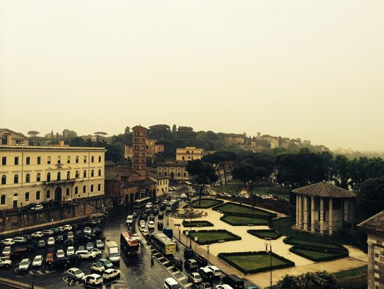 Fortyseven Hotel Rome: View from rooftop restaurant