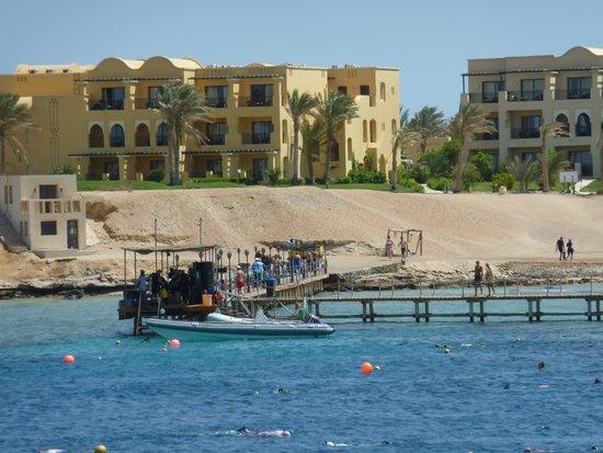 Steigenberger Coraya Beach : Hotel from sea