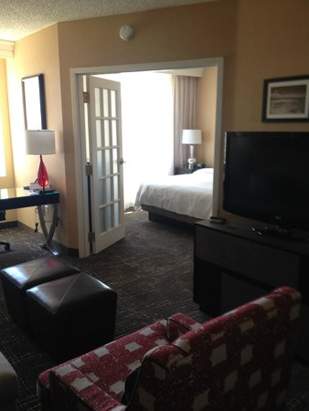 Las Vegas Marriott: French doors to the bedroom