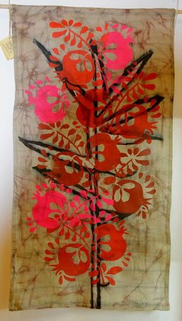 Batik Wall Hanging wall-hanging, batik on the linen - picture of gallery 27, tbilisi