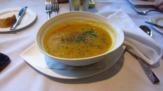 Rockwater Secret Cove Resort: The Squash soup. No cream.