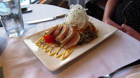 Rockwater Secret Cove Resort: Tuna tataki. A good size appetizer