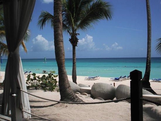 Catalonia Gran Dominicus: Beach Area - View from Privilege Terrace Restaurant