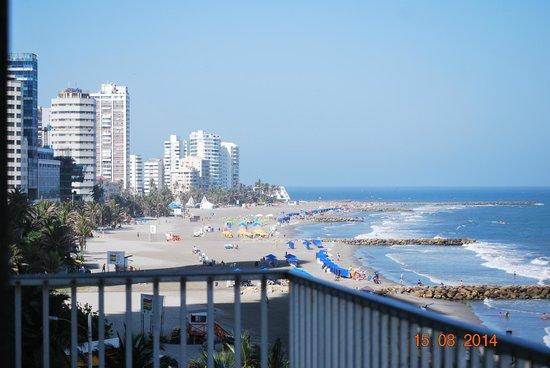 Hotel Capilla del Mar: vista del balcón