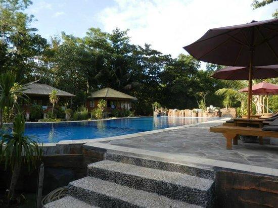 Two Fish Divers Bunaken: pool with bungalows