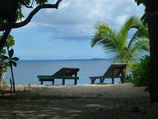 Fafa Island Resort: View from just in front of our fale