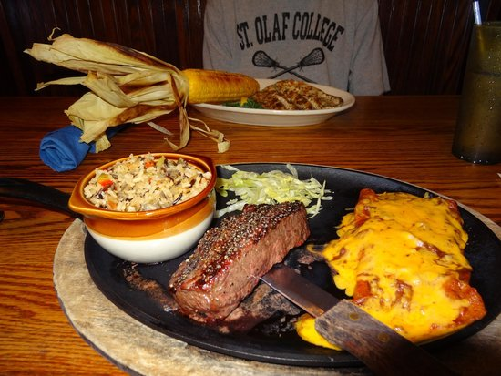 H3 Ranch: Delicious Lunch, Steak/Enchilada combo and Grilled Trout