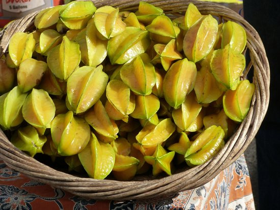 Pukalani, HI: Star Fruit at Upcountry Maui Farmer's Market, Alden Cornell Molokai Hawaii