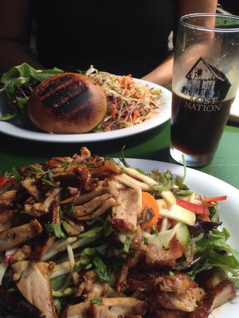 Lost Nation Brewing: Chicken salad, burger and Pitch BlCk beer !!