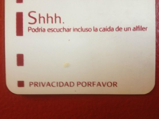 Santiago Marriott Hotel: Privacy sign1