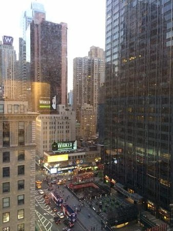 The Manhattan at Times Square Hotel: The view from my room on 19th floor
