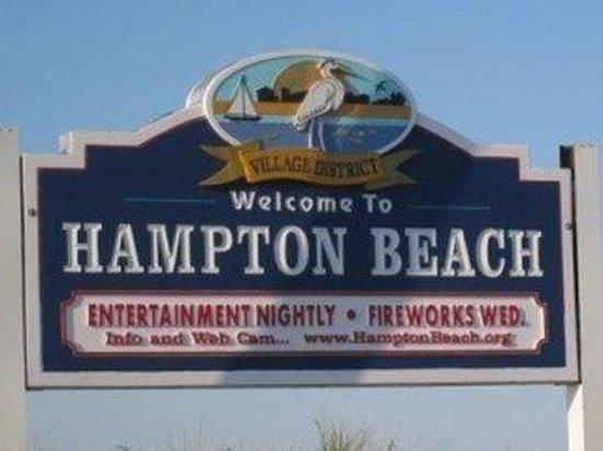 The Tides Motel: hamptombeach.sign