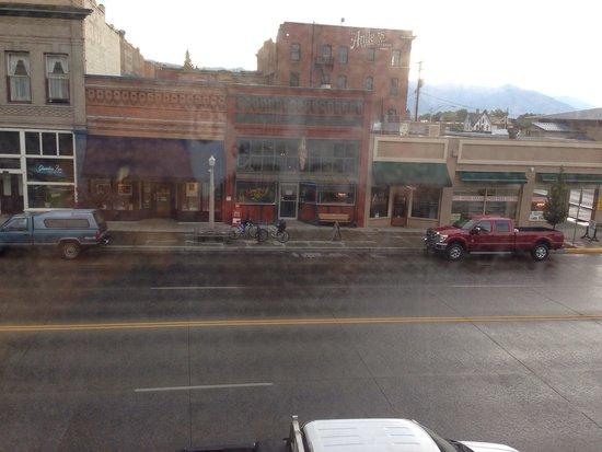 "Geiser Grand Hotel: ""King View Suite"" overlooks the dive bar across the street.  Baker City Oregon Geiser Grand Hote"